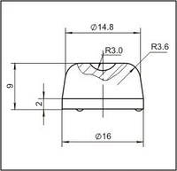 Вставки для фрез дорожно-фрезерных машин и бурового инструмента  16L1
