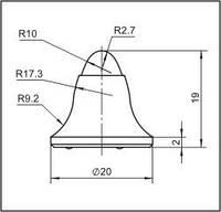 Вставки для фрез дорожно-фрезерных машин и бурового инструмента  20FE-02