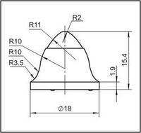 Вставки для фрез дорожно-фрезерных машин и бурового инструмента  18FN-01