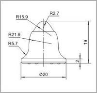 Вставки для фрез дорожно-фрезерных машин и бурового инструмента  20FE-01