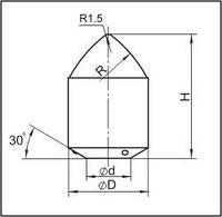 Вставки для фрез дорожно-фрезерных машин и бурового инструмента K17.5