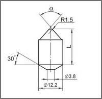 Вставки для фрез дорожно-фрезерных машин и бурового инструмента  K12,3