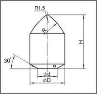 Вставки для фрез дорожно-фрезерных машин и бурового инструмента K22