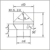 Вставки для фрез дорожно-фрезерных машин и бурового инструмента K2804