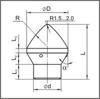 Вставки для фрез дорожно-фрезерных машин и бурового инструмента K2880