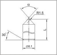 Вставки для фрез дорожно-фрезерных машин и бурового инструмента K8