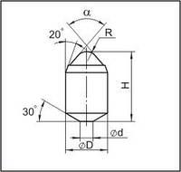 Вставки для фрез дорожно-фрезерных машин и бурового инструмента ДУ