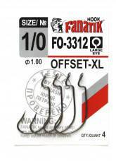 Гачок Fanatik FO-3312 №1/0 XL офсетний (4шт)