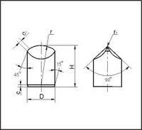 Шлифованные зубья для армирования буровых долот, форма D=10.14