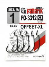 Гачок Fanatik FO-3312 №1 XL офсетний (5шт)