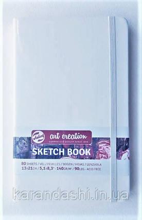 Блокнот для графики Talens Art Creation 13*21см 80л 140г/м белая обложка, фото 2