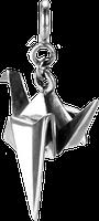 Серебряные подвески в стиле оригами Голубь