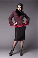 Блуза из красной и черной  жатой сетки Giani Forte, фото 1