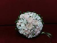 Свадебный букет-дублер нежно-пудровый с айвори