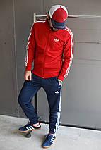 Мужской спортивный костюм Adidas.Ткань-Лакоста , фото 3