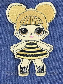 Нашивка Кукла ЛОЛ Пчелка 102х150 мм