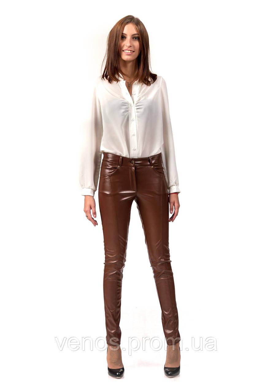 Модные женские кожаные леггинсы. L061