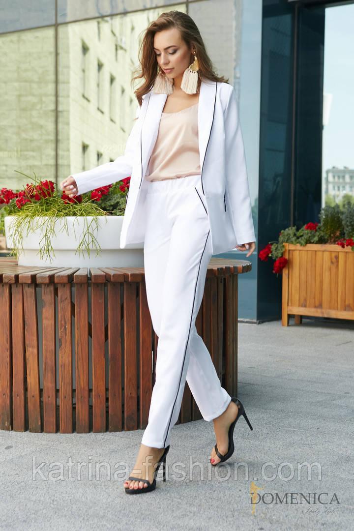 Женский стильный брючный костюм: пиджак и брюки (3 цвета)