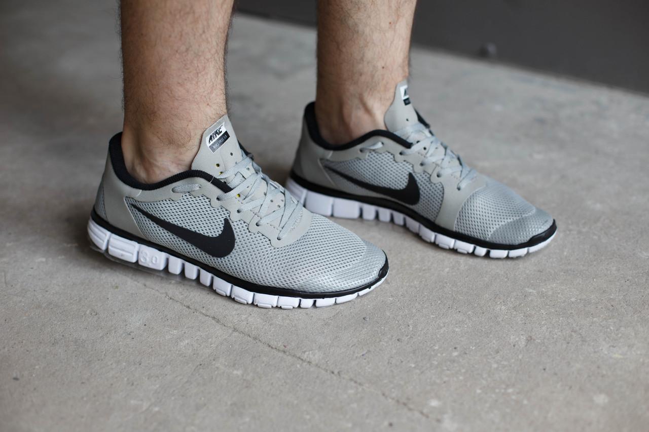 Мужские кроссовки Nike Free 3.0 Светло серые