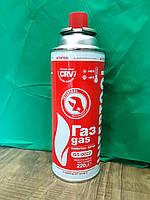 """Газовый баллон 220г """"Intertool"""" для портативных газовых приборов."""