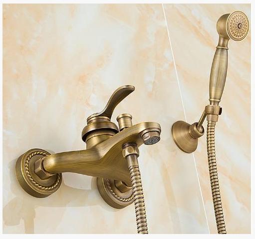 Смеситель для ванной комнаты в бронзе 2-042