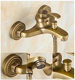 Смеситель для ванной комнаты в бронзе 2-042, фото 4