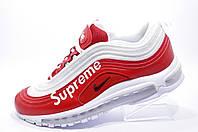 Мужские кроссовки в стиле Nike x Supreme Air Max 97 Customs, Red\White