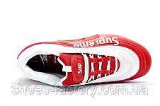 Мужские кроссовки в стиле Nike x Supreme Air Max 97 Customs, Red\White, фото 3