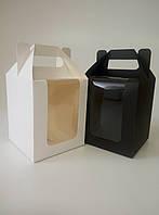 Коробка с ручками из картона 150х180х150 мм, фото 1