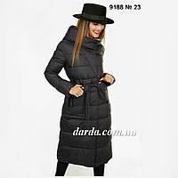 Зимнее женское пальто без меха Fodarlloy 9188