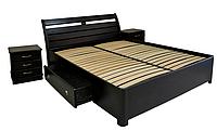 Спальня мебель: кровать из массива ясеня Натали Плюс с ящиками