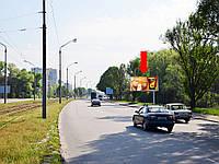 Щит г. Днепропетровск, Донецкое шоссе ул., съезд с Кайдакского моста на левый берег, из центра