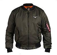 Бомбер мужской хаки МА-1 от Olymp, высокое качество осень куртка бомбер