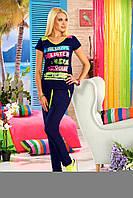 Женский домашний костюм футболка и брюки Турция