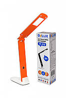 LED Светильник настольный DELUX TF-310 5W 400Lm 4000К бело/оранжевый