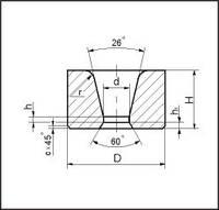 Заготовки волок для волочения труб круглого сечения d=0,2 мм