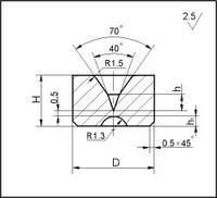 Заготовки для волочения проволоки и прутков круглого сечения, форма 1, D=8 мм