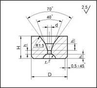 Заготовки для волочения проволоки и прутков круглого сечения, форма 2, D=6 мм