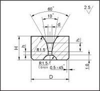 Заготовки для волочения проволоки и прутков круглого сечения, форма 3, D=6 мм