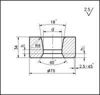 Заготовки для волочіння дроту і прутків круглого перерізу, форма 19, d=33.5 мм