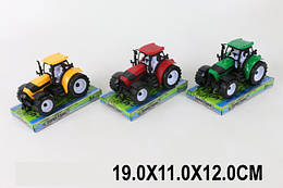 Трактор инерц. 3 цвета, под слюдой 19*11*12см /96-2/