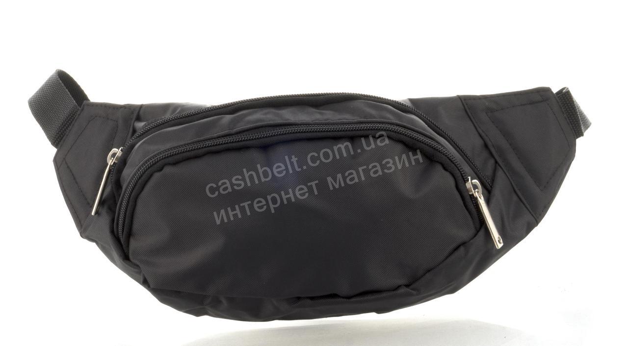Удобная мужская сумка на пояс art. БАНАНКА 66 (102914) черная Украина