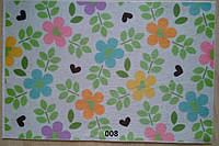 Фетр с цветочным рисунком принтом 008