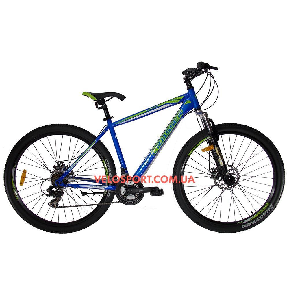 """Горный велосипед Crosser Faith 29 дюймов 21"""" синий"""