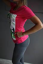 Футболка женская Adidas.Розовая , фото 2