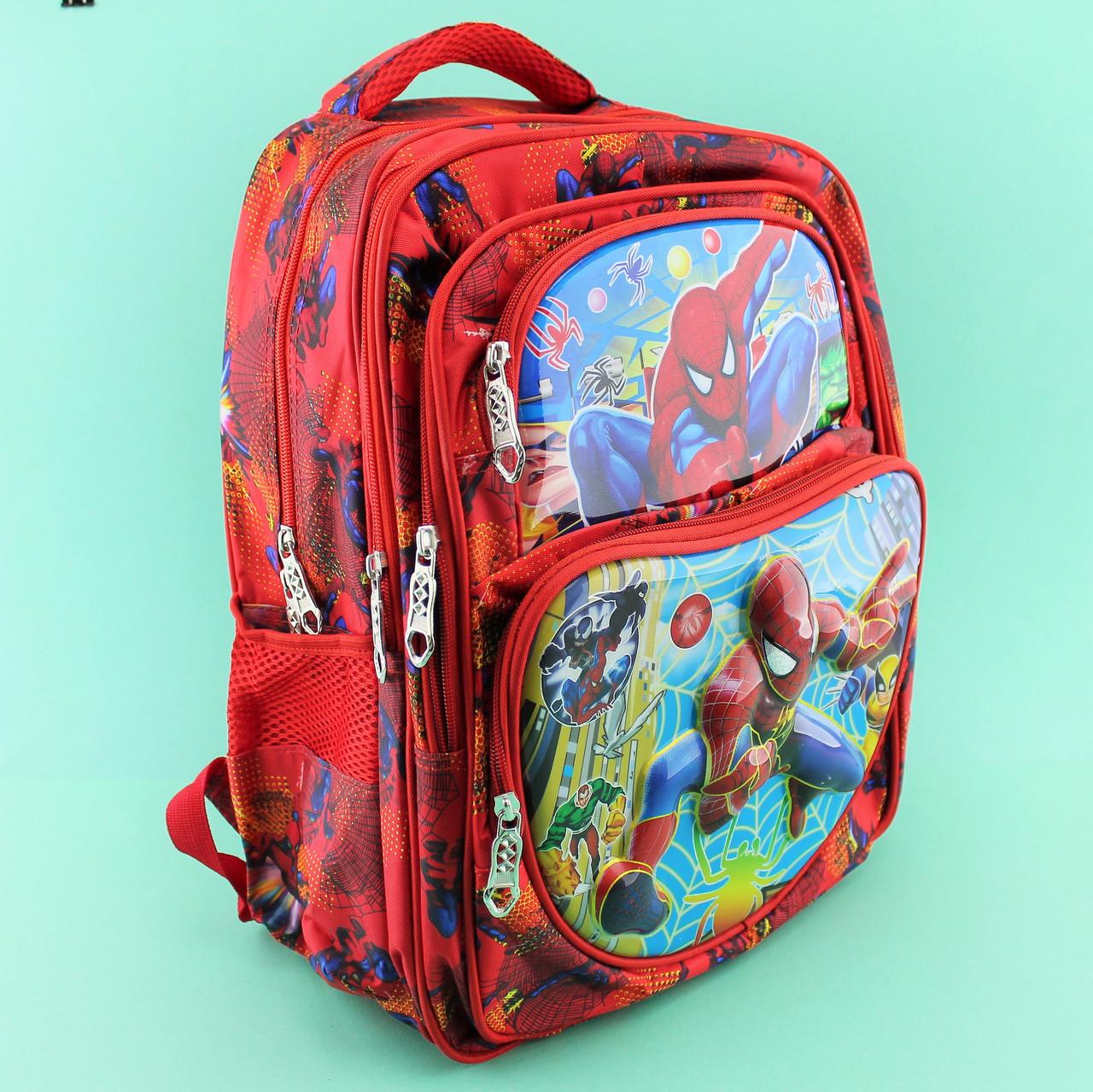 400347291f94 Школьный рюкзак мальчика Человек Паук, ортопедическая спинка 24 л 5  отделений 30х20x40см - Style-