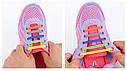 Силиконовые ленивые шнурки для обуви белые набор, фото 3