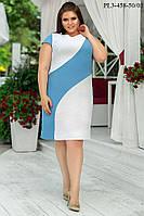 Сукня напівприлягаючого силуету з льону 52-58 р. р., фото 1