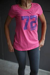 Футболка женская Adidas.Розовая