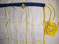 """Волейбольная сетка с шнуром натяжения. D 2,5мм., 15см. ячейка для волейбола """"Эконом 15"""", ассорт"""